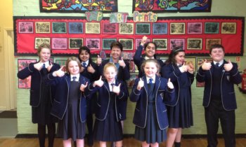 Year 6 pupils celebrate exam success