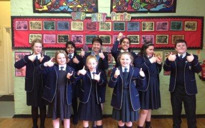 Year 6 pupils celebrate exam success