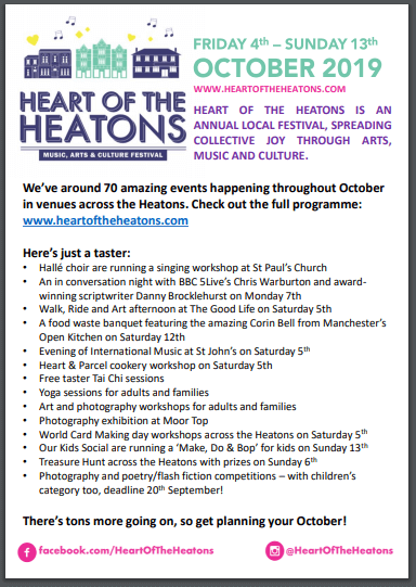 A snapshot of the Heart Of The Heatons programme!