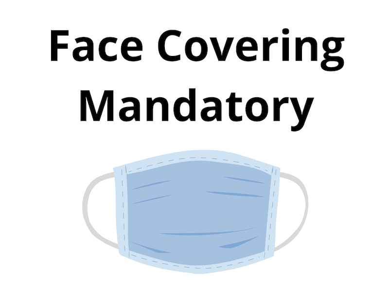Face Coverings in Shops from 24 July