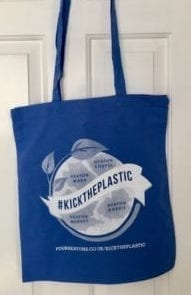 Buy your #KickThePlastic tote bag on Shop4Heatons
