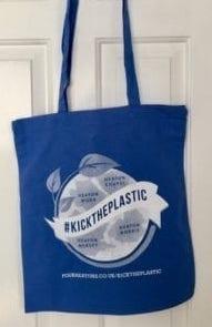 Buy your #KickThePlastic tote bag on Shop4Heatons